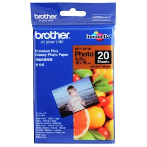 Brother Premium Plus Photo Paper 4x6in 260gsm - Glossy 20 Shts