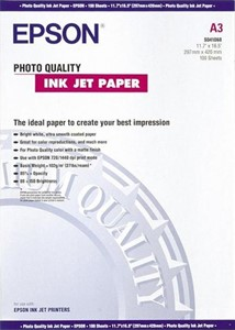 A3 Epson Photo Quality Inkjet Paper - 100 sheets