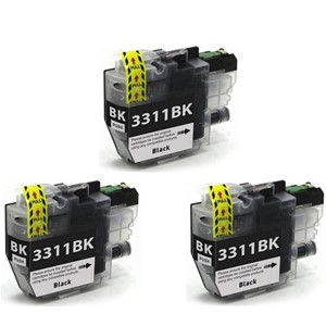 LC3311BK Compatible Brother Black Triple Pack