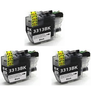 LC3313BK Compatible Brother Black Triple Pack