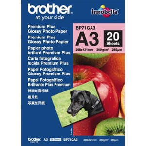 Brother Photo Paper A3 260gsm - Glossy 20 Sheets
