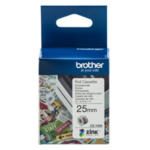 CZ1004 Brother 25mm Printable Roll Cassette