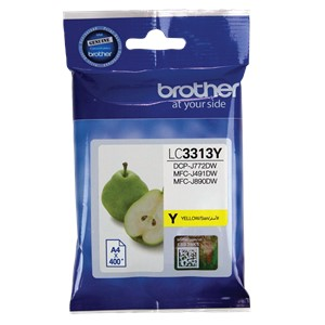 LC3313Y Brother Yellow High Yield Ink Cartridge