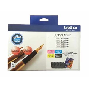 LC3317PVP Brother Photo Value Pack