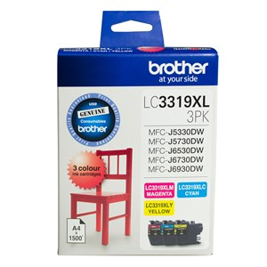 LC3319XL3PK Brother Hi Yield Ink Colour 3 Pack