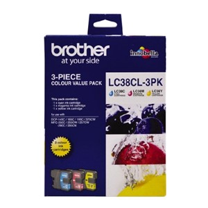 LC38CL3PK Brother Colour 3 Pack