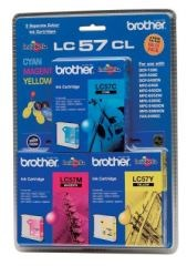 LC57CL3 Brother Colour 3 pack C/M/Y