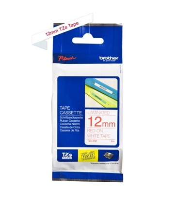 TZe232 Brother 12mm Red on White P-Touch tape
