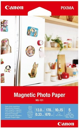 4x6 Canon Glossy 670gsm Magnetic Photo Paper - 5 Sheets