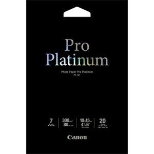 4x6 Canon Photo Paper Pro Platinum 20 shts