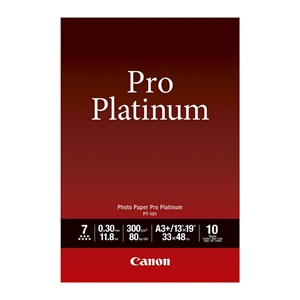 A3+ Canon Photo Paper Pro Platinum 10 shts