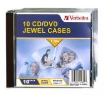 Verbatim CD/DVD Jewel Cases - 10 Pack