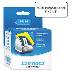 11352 Dymo Multipurpose Label 25mm x 54mm White Roll 500