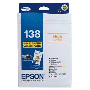 Epson 138 Value Pack Bk/C/M/Y - OPENED