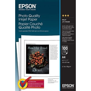 A4 Epson Photo Quality InkJet Paper - 100 sheets