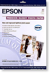 A3 Epson Premium Glossy Photo Paper - 20 sheets