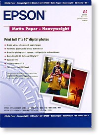 A4 Epson Matte Paper Heavy weight - 50 sheets