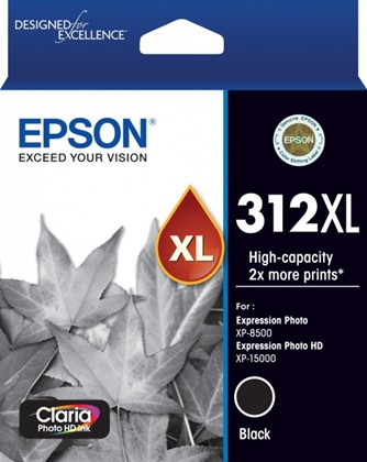 Epson 312XL High Capacity Black Ink Cartridge