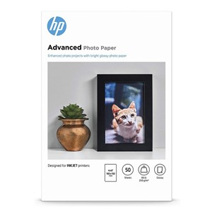 4x6 HP Advanced Glossy Paper 250gsm - 50 sheets