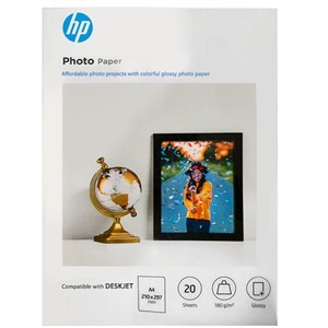 A4 HP Advanced Glossy Photo Paper 180gsm - 20 sheets