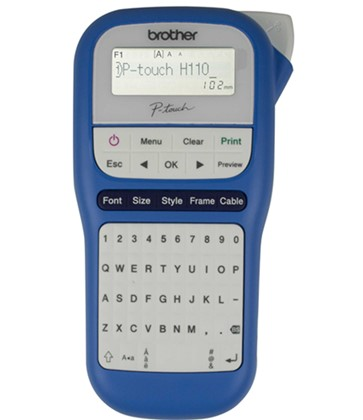 Brother P-Touch PTH110 Label Maker - Blue & White