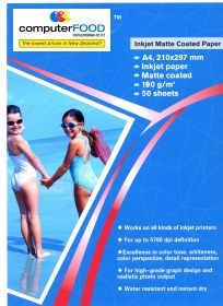 A4 Matte Coated Paper 50 Sheets 190gsm
