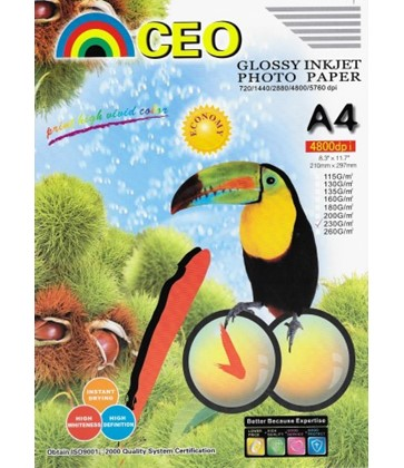 A4 High Glossy Photo Paper 20 Sheets 230gsm