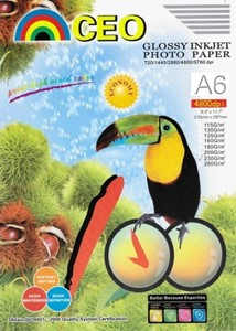 4x6 Glossy Photo Paper 100 Sheets 230gsm