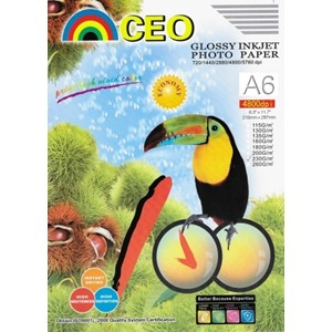 A6 Glossy Photo Paper 100 Sheets 180gsm