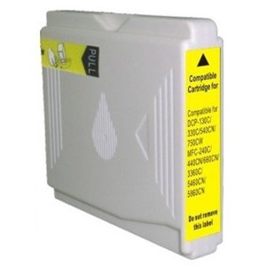 LC57Y / LC37Y Compatible Yellow Cartridge for Brother