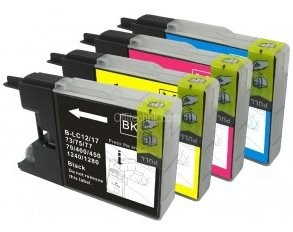 LC77XL Compatible Set of 4 Inks for Brother- Bk/C/M/Y - Save $