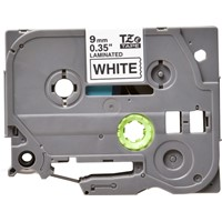 TZe221 Compatible 9mm Black on White P-Touch Tape for Brother