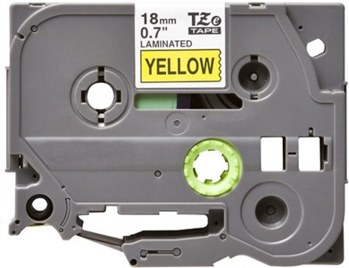 TZe641 Compatible Brother 18mm Black on Yellow P-Touch tape