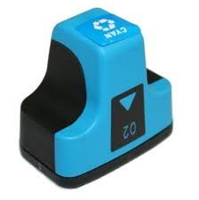 02 Compatible Cyan Ink Cartridge for HP
